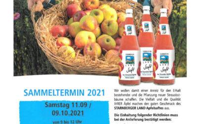 """Apfelsammlung """"Unser Land"""" im Landkreis Starnberg"""